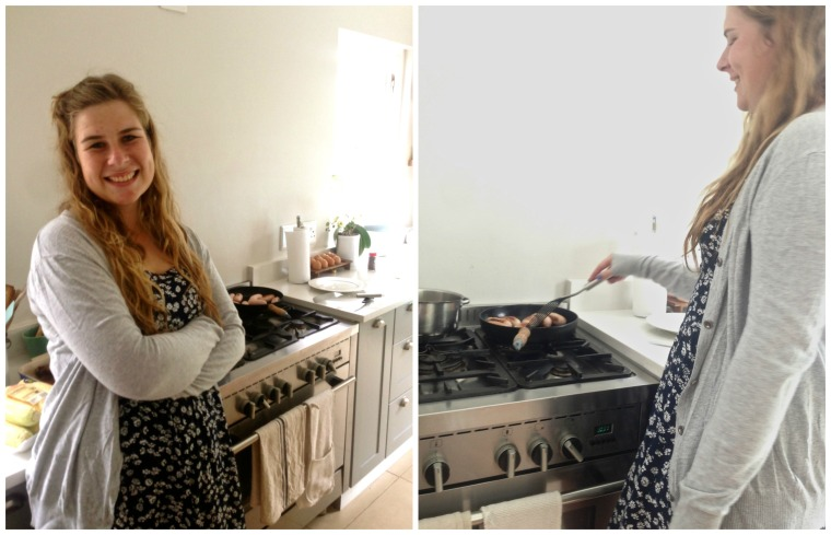 Emma making food