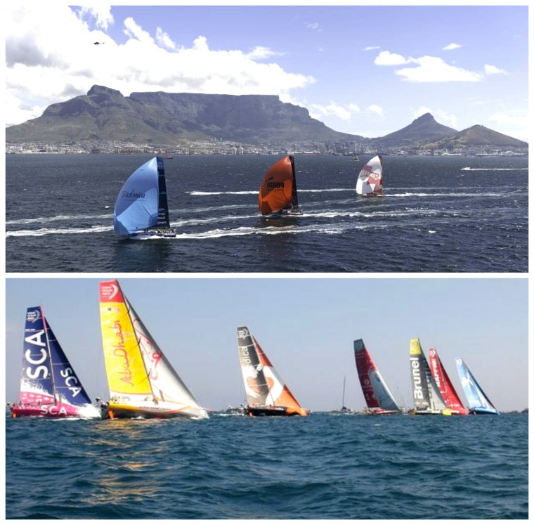 volvo ocean race collage